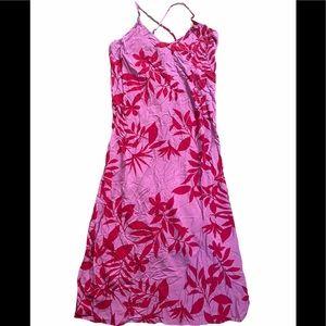 NWOT Old Navy pink floral midi dress